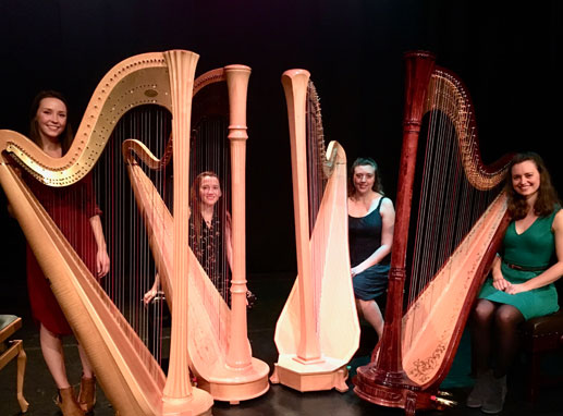 Music in Lanark: Clouds Harp Quartet