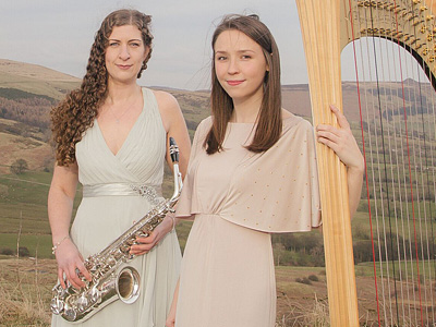 Polaris Duo, Harp and Saxaphone: Music in Lanark